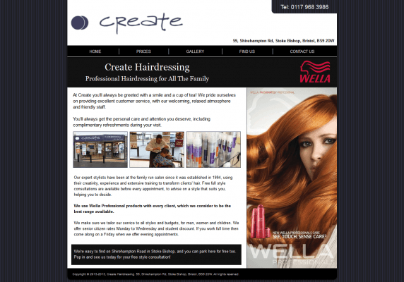Web Design Gallery Create